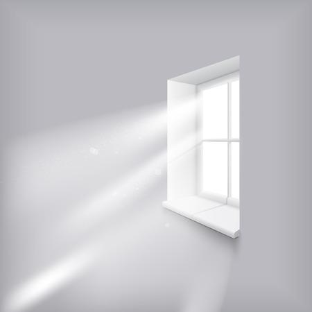 Sun rays shining trough window 일러스트