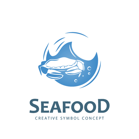 sail fin: Seafood creative symbol.