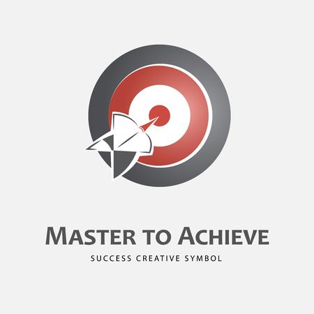 achieving: Achieving goal design template illustration