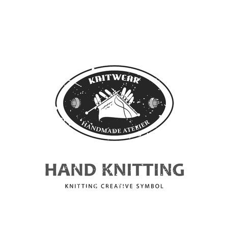 knitwear: Knitting for craft related site or business, knitwear workshop Illustration