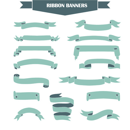 Retro styled ribbons collection. Made in vector