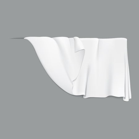 White hanging cloth. For the covered of the part of illustrations Иллюстрация