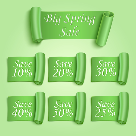 Big Spring sale stickers set