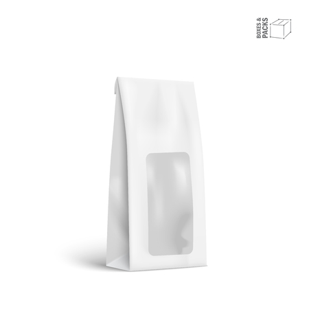 Vector Packaging Package Bag Isolated on White Background