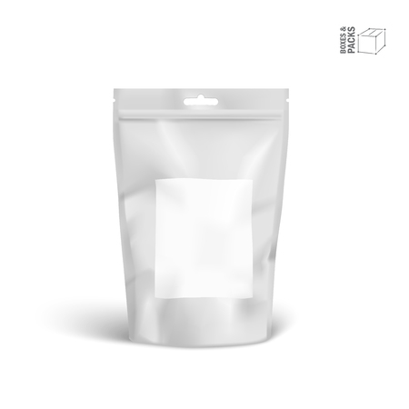 Vector Packaging Package Bag Isolated on White Background.