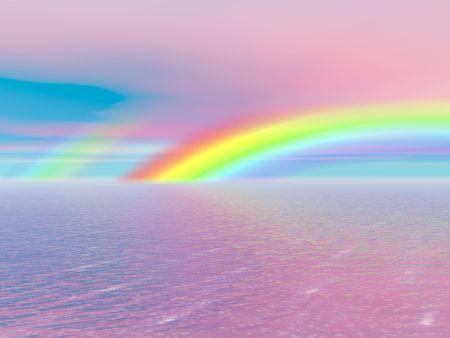 Beautiful rainbow photo