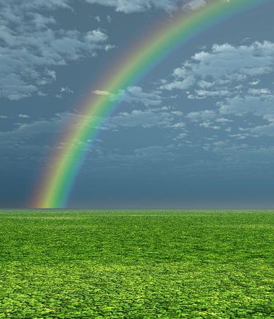 Beautiful rainbow Stock Photo