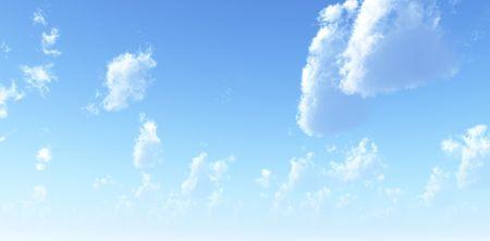 panoramic sky: Beautiful cloudscape Stock Photo