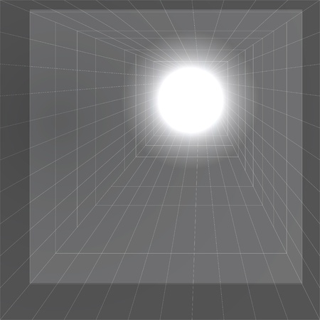 Light in the end of a tunnel Vector