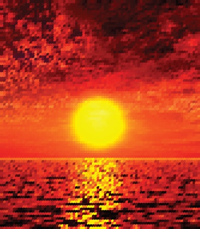 Bella tramonto illustrazione
