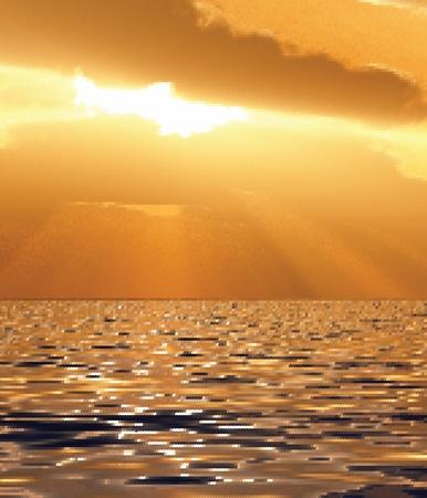 Beautiful sunset illustration Vector