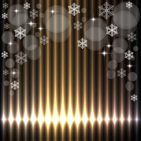 Beautiful christmas lights background Vector