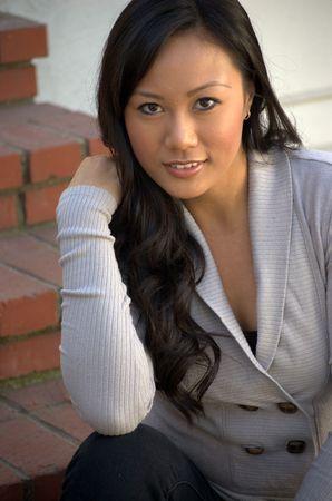 Light top portrait Stock Photo