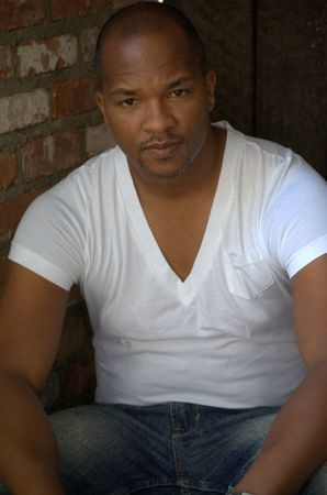 Black man sitting