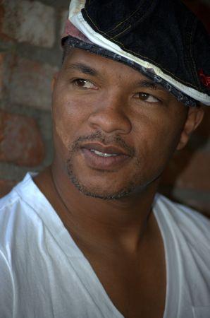 Portrait of a black man smiling Stock Photo