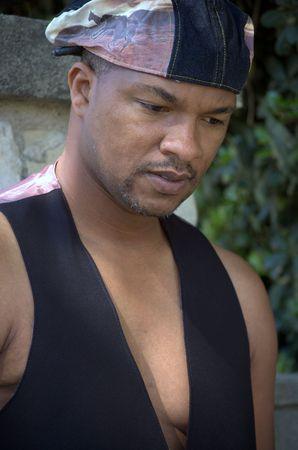 Portrait of a black man standing Stock Photo