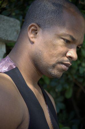 Portrait of a black man profile