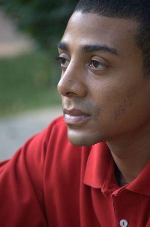 Portrait of a young black man