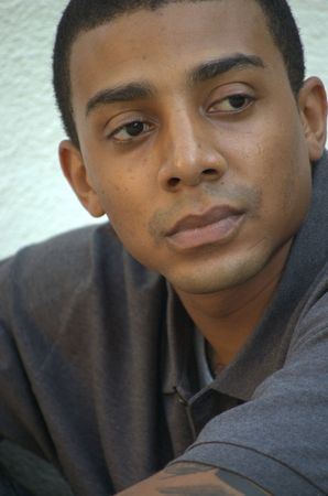 Headshot of a young black man