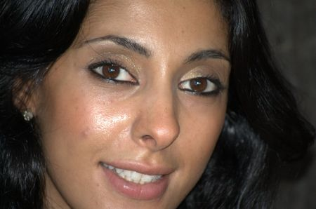 Close up of a middle eastern woman