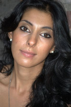 Middle eastern woman with long dark hair