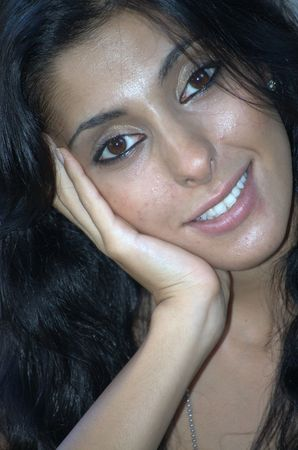 Headshot of a middle eastern woman photo