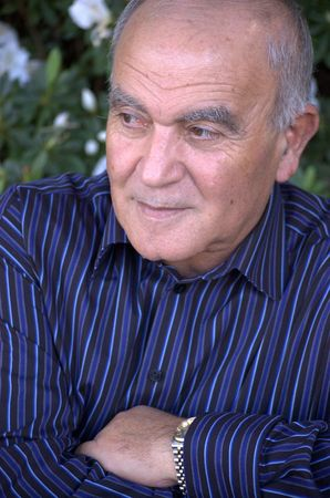 Portrait of an older man looking away Stock Photo