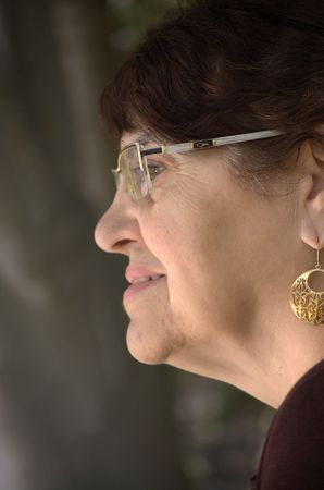 Profile of an older woman