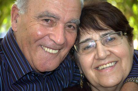 Portrait of a happy older couple Stock Photo