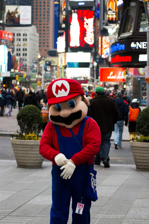 mario at time square