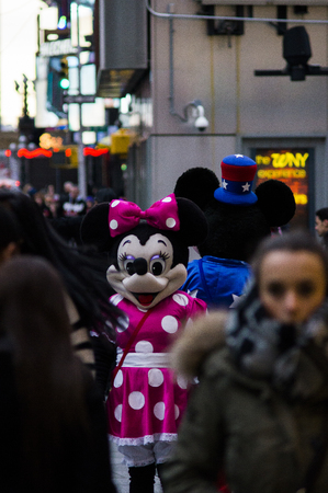 minnie mouse at time square Editorial