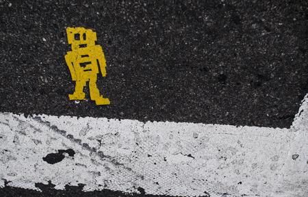 8BIT ROBOT on street
