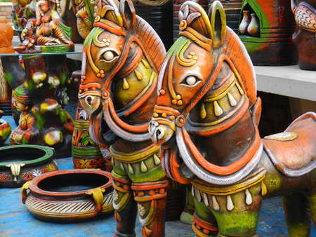clay craft: Indian Pottery Stock Photo