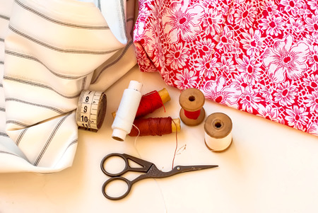 sewing cotton: Multi-colored threads for sewing