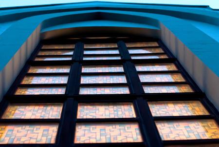 balthazar: An image of a gothic church window in a Catholic church, Ukraine
