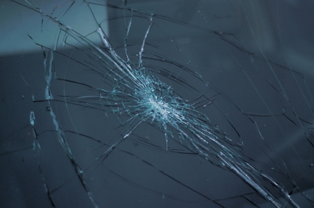 windshield: broken windshield