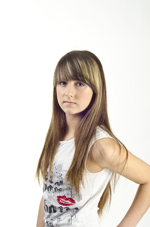 teenage girl dress: Image of beautiful girl fashion Stock Photo