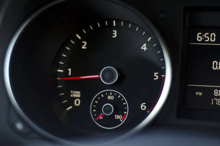 instrument panel: Dark image of the car instrument panel
