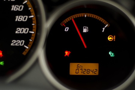 Image of black fuel gauge photo