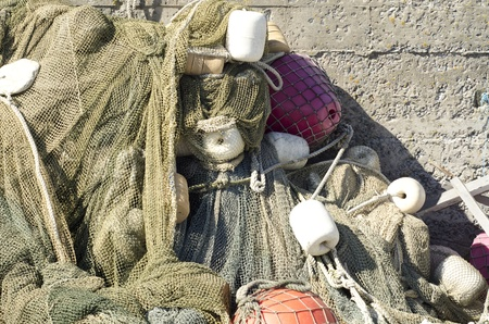 Image of fishing rope and net Stock Photo - 13219307