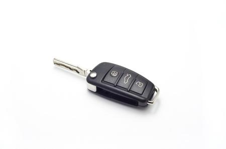key fob: Image of car key isolated on white