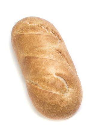 image of bread on a white background photo