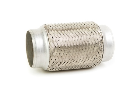 exhaust system: image of flexible connection to the exhaust system Stock Photo