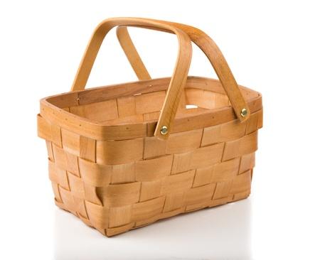 Image of empty basket isolated on white
