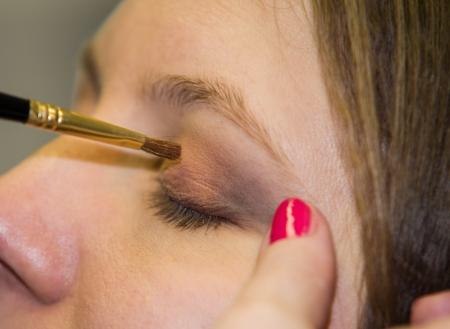 Image of eye makeup process photo