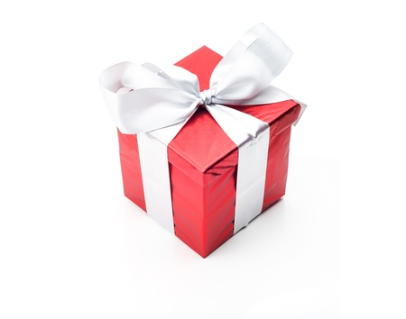 Image of red giftbox with ribbon photo