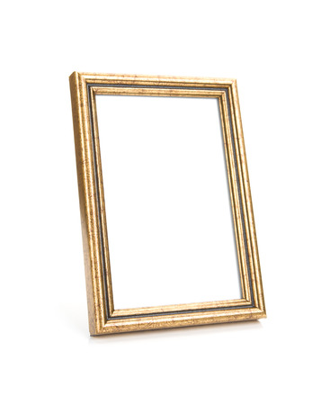 Image of Picture Frame Isolated on White, selective focus photo