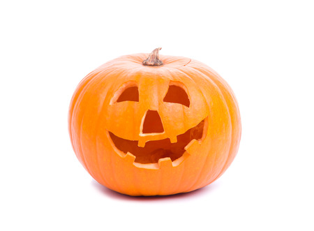 Image of halloween pumpkin isolated on white Stock Photo