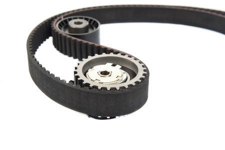 Image of Part of timing belt, spare parts photo