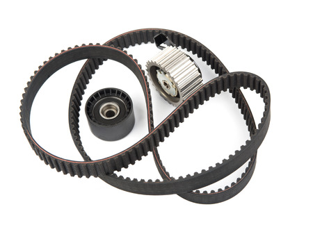 timing: Image of timing belt with rollers isolated